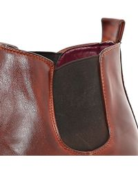 River Island - Brown Contrast Gusset Chelsea Boots for Men - Lyst