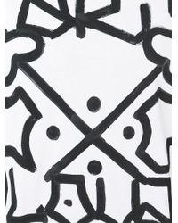Faith Connexion - White Graffiti Print T-shirt for Men - Lyst