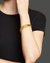 Roberto Coin - Metallic 18k Yellow Gold Plated Sterling Silver Medium Bangle - Lyst