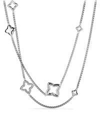 David Yurman | Metallic Quatrefoil Chain Necklace | Lyst