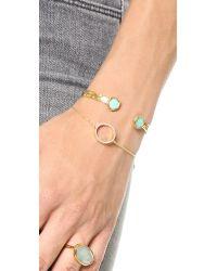 Monica Vinader | Metallic Naida Circle Open Bracelet - Diamond/gold | Lyst