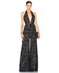 Cushnie et Ochs - Black Organic Dot Print Jumpsuit - Lyst