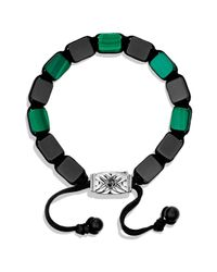 David Yurman - Black Spiritual Beads Tile Bracelet With Malachite for Men - Lyst