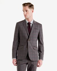 Ted Baker | Gray Checked Jacket for Men | Lyst