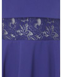 Jane Norman - Blue Double Layer Lace Skater Dress - Lyst