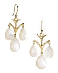 Elizabeth Showers - White Vintage Mother-of-pearl Chandelier Earrings - Lyst