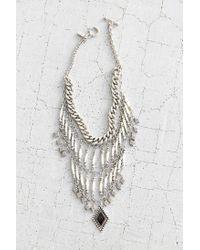Vanessa Mooney | Metallic Midnight Silver Statement Necklace | Lyst