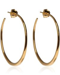 Dinny Hall | Metallic Medium Gold Vermeil Tapering Hoop Earrings | Lyst