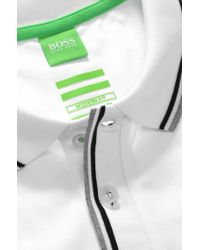 BOSS Green | White Regular-fit Golf Polo Shirt In Stretch Cotton: 'pasey' for Men | Lyst