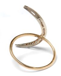 Andrea Fohrman - Metallic Medium Gold Sapphire Luna Crescent Moon Ring - Lyst