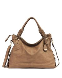 Jessica Simpson | Brown Mara Faux Leather Tote | Lyst