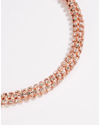 Lipsy | Metallic Twisted Chain Collar Necklace | Lyst