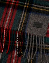 Minimum - Red Check Wool Scarf for Men - Lyst