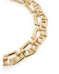 St. John - Metallic Crown Link Necklace - Lyst