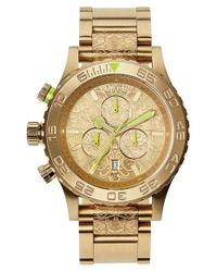 Nixon - Metallic 'the 42-20 Chrono - Ornate' Watch - Lyst