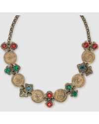 Gucci | Natural Necklace With Coins And Crystals | Lyst