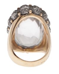 Federica Rettore | Gray Cabochon Oval Cocktail Ring | Lyst