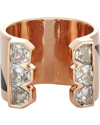 Dezso by Sara Beltran | Metallic Deco Wide-Band Cuff Ring | Lyst