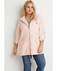 Forever 21 - Orange Plus Size Hooded Utility Jacket - Lyst