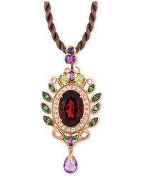 Le Vian - ® Fiery Reds™ Raspberry Rhodolite Garnet (5-1/3 Ct. T.w) And Multistone (1-3/4) Pendant In 14k Rose Gold - Lyst