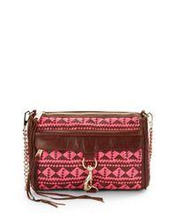 Rebecca Minkoff | Brown Mac Woven Leather Clutch | Lyst