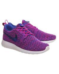 Nike - Purple Roshe Run Flyknit (w) - Lyst