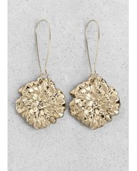 & Other Stories | Metallic Flower Pendant Earrings | Lyst