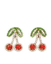 Shourouk | Green 'Cherry' Clip-On Earrings | Lyst