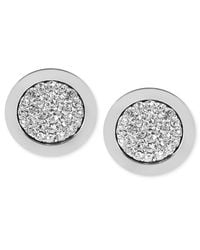 Michael Kors | Metallic Pave Slice Stud Earrings | Lyst