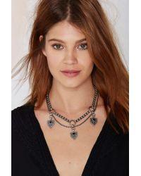 Nasty Gal | Metallic Biko Levi Silver Necklace | Lyst