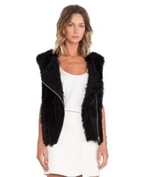 Marc By Marc Jacobs - Black Abbey Rabbit Fur Vest - Lyst