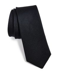 W.r.k. | Blue Textured Silk & Cotton Tie for Men | Lyst