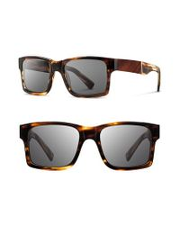 Shwood | Brown 'haystack' 52mm Wood Sunglasses for Men | Lyst