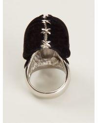 Alexander McQueen - Black Skull Ring for Men - Lyst