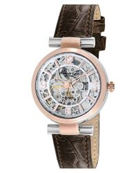 Kenneth Cole - Metallic Automatic Leather Strap Watch - Lyst