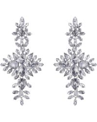 Givenchy - Purple Strass Crystal Drop Earrings - Lyst