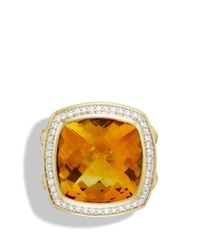 David Yurman - Metallic Albion Ring With Citrine & Diamonds In Gold - Lyst