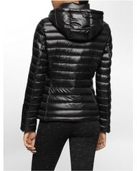 Calvin Klein - Black White Label Lightweight Packable Hooded Down Jacket - Lyst