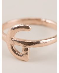 Bjorg - Metallic Alphabet G Ring - Lyst
