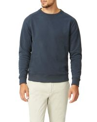 Wolsey - Blue Brushed Plain Crew Neck Pull Over Jumpers for Men - Lyst