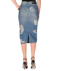 Marco Bologna | Blue Denim Skirt | Lyst