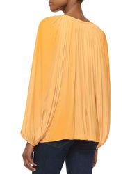 Ramy Brook - Orange Paris V-neck Peasant Blouse - Lyst