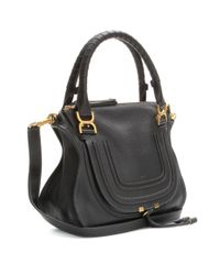 Chloé | Black Marcie Medium Leather Shoulder Bag | Lyst