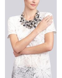 Natori | Black Beaded Bib Necklace | Lyst