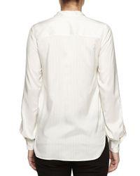 Stella McCartney - Natural Long-sleeve Striped Shirt - Lyst