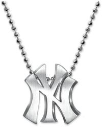 Alex Woo | Metallic Mlb Collection By Sterling Silver New York Yankees Pendant Necklace | Lyst