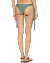 Mikoh Swimwear | Gray Puerto Rico Tie Side Bottoms - Army | Lyst