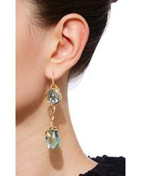Sidney Garber | Blue Aquamarine Drop Snake Earrings | Lyst