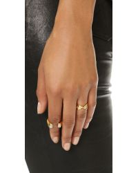 Elizabeth and James - Metallic Soleri Ring - Gold/clear - Lyst