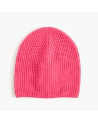 J.Crew | Purple Ribbed Cashmere Hat | Lyst